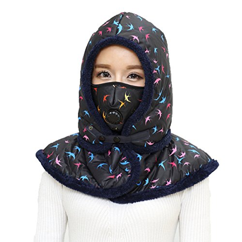 SOOCO Mens Winter Warm Bomber Hat Máscara A Prueba De Viento Winter Ear Flap Unisex Ushanka Para El Esquí De Patinaje Hiking Navy