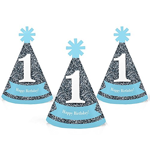 1st Birthday Boy - Fun to Be Fun - Mini Cone First Birthday Party Hats - Small Little Party Hats - Set of 10