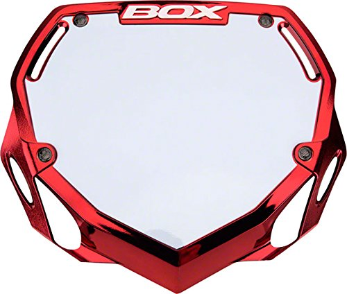 Box Components Phase 1 Pro Plate Red Chr Red Chrome BX-NP16CHRLG-RD