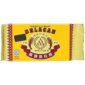Belacan Shrimp Paste – Shrimp & 6A Brand (250g/8.82oz) Product of Malaysia