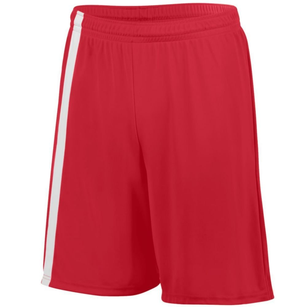 Augusta Activewear Attacking Third Short - Youth, Red/White, Small by Augusta Activewear