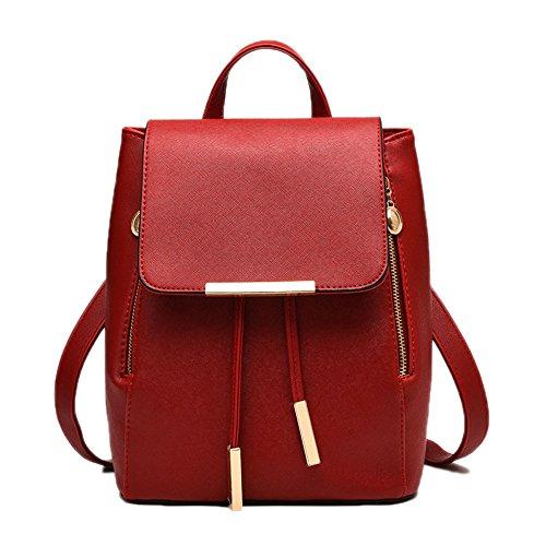 Backpack Bag Shoulder Tote Red Preppy School Girls Handbag Style Catkit Casual Womens 6R1v1n