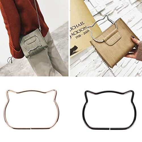 SimpleLif Metal Bag Handle,Cute Cat Ear Handle DIY Shoulder Bags Making Handbag Handle Replacement Accessories by SimpleLif (Image #4)