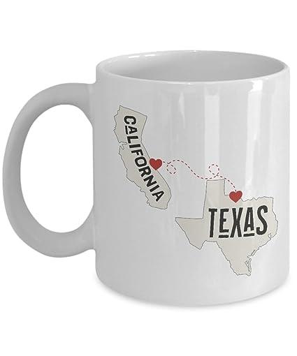 Amazoncom California And Texas Ceramic Coffee Mug Tea Cup With