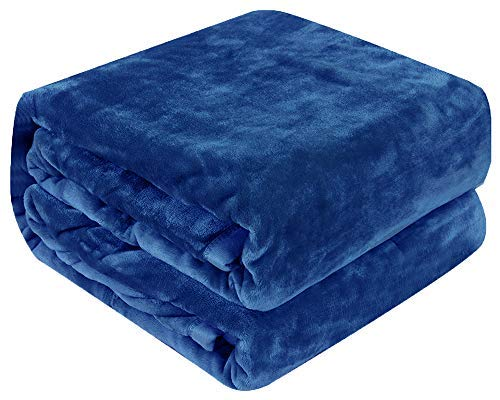 Luxury Collection Ultra Soft Plush Fleece Lightweight All-Season Throw/Bed Blanket, Twin, Navy Blue (Quilt Twin Gift Wrap)