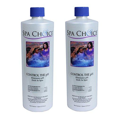 Spa Choice 472-3-2051-02 Spa Chemical to Control/Balance pH Level, 1-Quart, 2-Pack