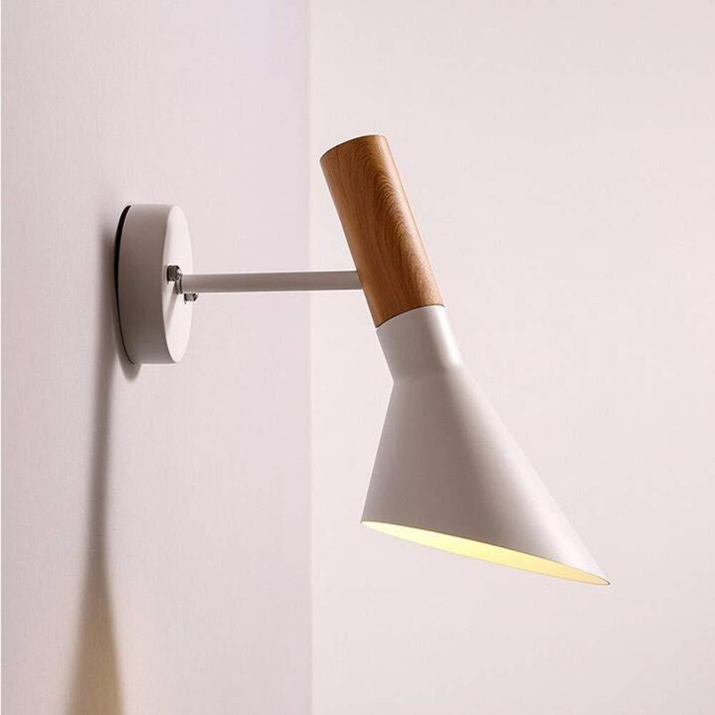Wall lamp Retro Nachttischlampe Licht Schreibtisch Einzelscheinwerfer Hotel Schlafzimmer Studie Lampe Wandleuchte,Weiß