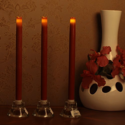 "LED Flameless Taper Candle 12"" Dripless Real Wax Pillars ..."