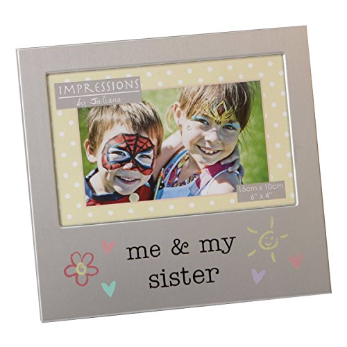 Little Sister Frame - Me and My Sister Photo Frame Brushed Aluminium Juliana Collection