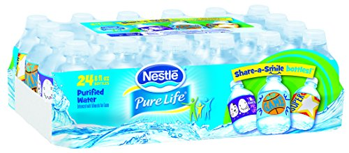 Nestle Pure Life Purified Water, 8-ounce Share-A-Smile