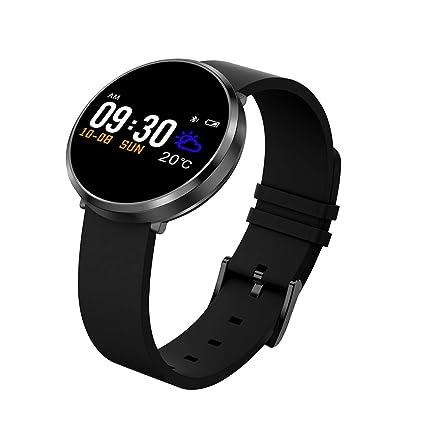 JASZHAO Reloj Inteligente IP68 Impermeable Multi-Sports Modo de frecuencia cardíaca detección de la presión