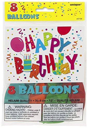 Latex Jamboree Birthday Balloons 8ct