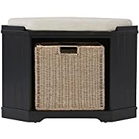 Home Decorators Collection Whitaker Black Storage Bench Deals