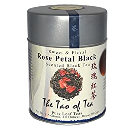 The Tao of Tea 97 Full-bodied black tea with a strong floral aroma and sweet, cooling flavor Ingredients: Black Tea Leaves, Red Rose Petals, Natural Rose Essence