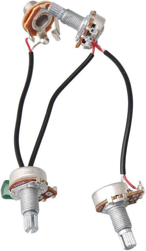Homswitch Silver Bass Wiring Harness 1 Volume 2 Tone 047 Cap 500k Pots Set