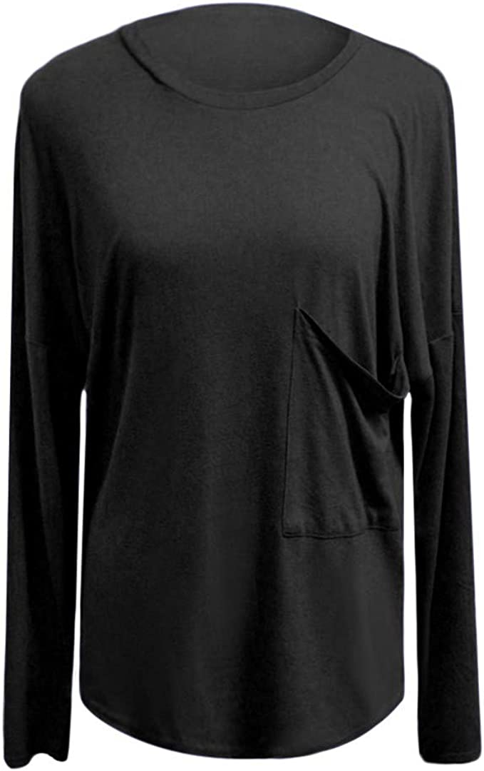 Winwinus Mens Pullover Slim Patched Notch Collar Plus Size Long Sleeve Tees Top
