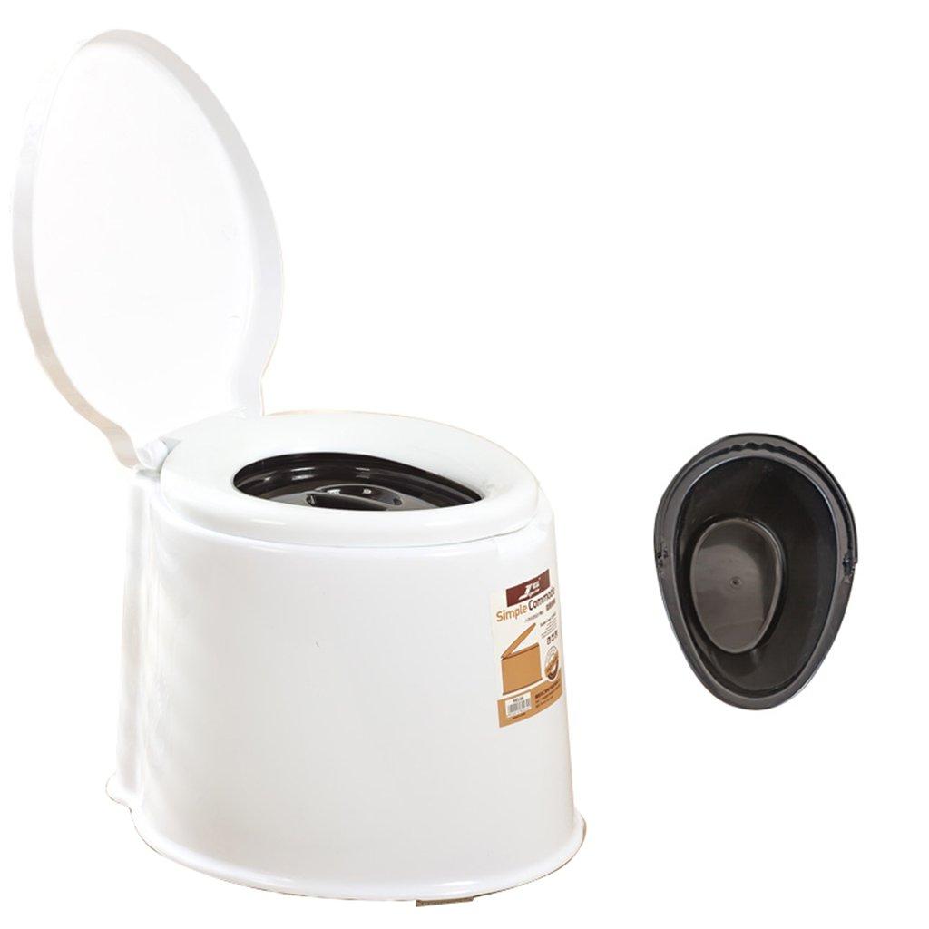 便座チェアトイレチェアポータブルキャンプハイキングトイレトイレプラスチック (色 : 白, サイズ さいず : A) B07CXMD6LQ  白 A