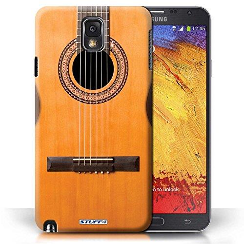 Etui / Coque pour Samsung Galaxy Note 3 / Acoustique en Bois conception / Collection de Guitare