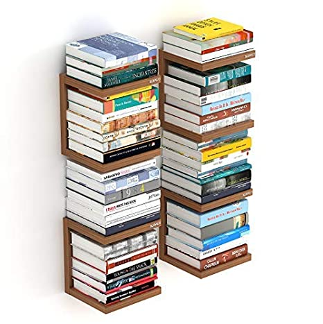 Bluewud Alvin Wall Mount Book Shelf Rack/Display Case - Ideal for Gift. Wall Shelves at amazon