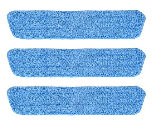 Simplee Cleen Household Swivel Mop Microfiber Damp Scrub Wet Pad (3 Pack) - Household Swivel Mop