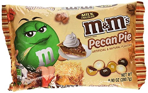 M&M's Pecan Pie Limited Edition Fall Milk Chocolate 9.90 Ounce Bag Pack of 6 (Pecan Pie Candy)