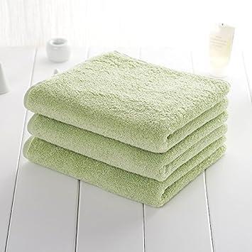 Mano towel-all algodón absorbente toalla algodón hombres adultos - Niños toallas de cara verde: Amazon.es: Hogar