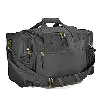 "ProEquip 17"" Sport Gym Duffle Bag Travel Size Sport Durable Gym Bag (Black)"