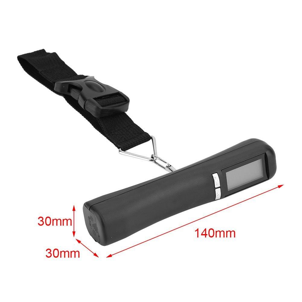 Asixx Báscula Digital de Mano para Equipaje, Pantalla LCD, de Color Negro,de Plásticos Y Componentes Electrónicos para Maletas 40 KG: Amazon.es: Hogar