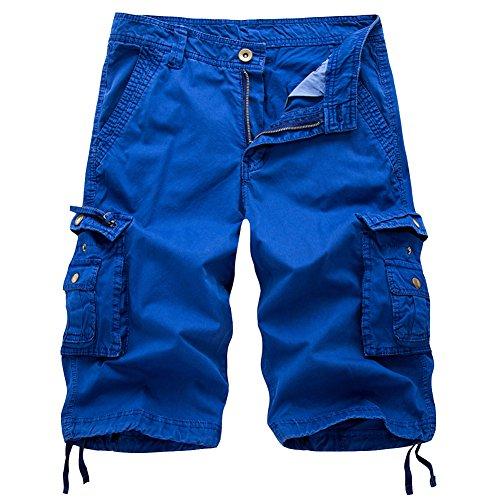 98634627f2 MHSLKER Summer Men's Cargo Shorts Loose Casual Multi-Pocket Classic Fit  Short