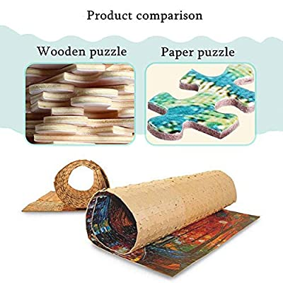 Adult Puzzles 1000 Pieces -Wooden Puzzle - Galaxy Planet Space Scenery - Educational Toy for Kids and Adults: Toys & Games