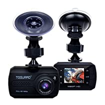 "[New Version] TOGUARD Mini Dash Camera Cars HD 1080P Wide Angle 1.5"" LCD Dash Cam Build in G-Sensor Loop Recording Motion Detection(32GB Card Included)"