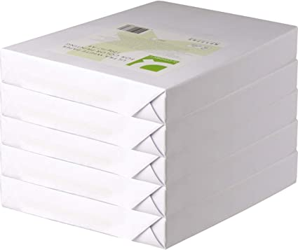 Q-Connect - Papel Fotocopiadora Ultra White Din A4 120 Gramos Caja De 5 Paquetes De 250 Hojas: Amazon.es: Oficina y papelería