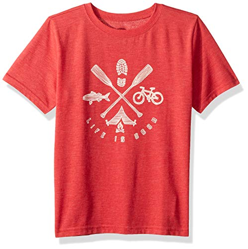 Outdoors Collection Great (Life is Good Boys Crusher Graphic T-Shirt Collection,Great Outdoors,Small)