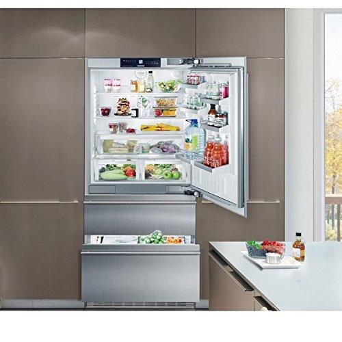 Liebherr CS 2060 36 inch Freestanding or Semi Built-in Refrigerator Freezer, Stainless Steel, Counter depth, Ice Maker Counter Depth Freestanding Bottom Freezer