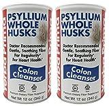 Yerba Prima Psyllium Whole Husks Colon Cleanser, 2 Count
