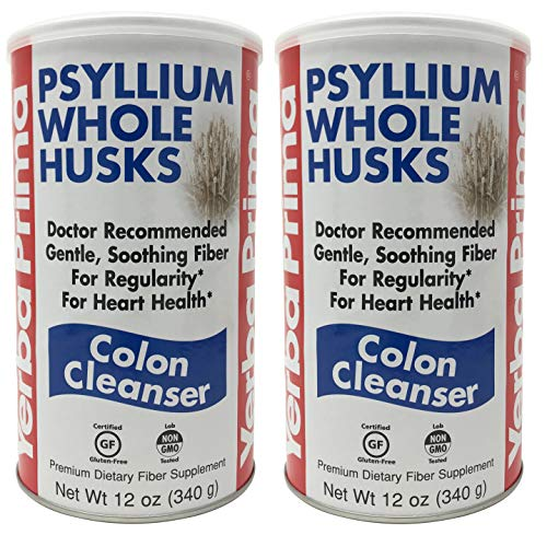 Yerba Prima Psyllium Whole Husks, Colon Cleanser 12 oz ( Pack of ()