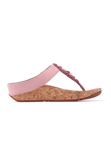 Fitflop Damen Ruffle Toe-Tanga Sandalen - Dusky Pink, Rosa, 36: Amazon.de:  Schuhe & Handtaschen
