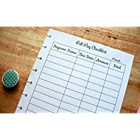 Monthly Bill Pay Checklist for 9-Disc Classic Happy Planner, Classic Happy Planner Budget Planner (PLANNER SOLD SEPARATELY)