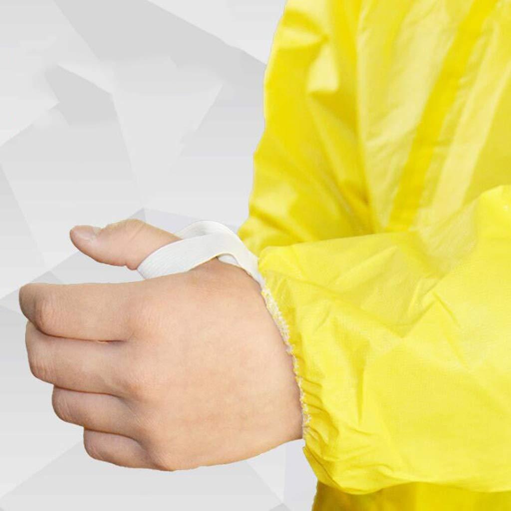 acido antipolvere elettrostatico e cappuccio con alcali con tuta antispruzzo giallo Indumenti protettivi chimici siamesi Color : 1PCS, Size : M