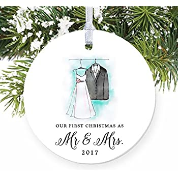Amazoncom Waterford Our First Christmas Ornament Home  Kitchen