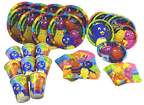 Nick Jr Backyardigans Birthday party set plates, napkins and cups for 8