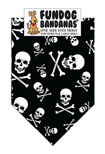 - Skull and Crossbones Dog Bandanas (One Size Fits Most for Medium to Large Dogs)