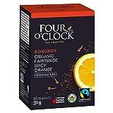 Four O'Clock Herbal Tea Rooibos Spicy Orange Organic Fairtrade, 16 Count