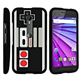 MINITURTLE Case Compatible w/ [Motorola Moto G 3rd Generation Case, Moto G Case][Snap Shell] Hard Plastic Slim Fitted Snap on case w/ Unique Designs Game Controller For Sale