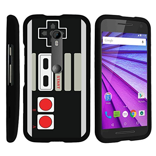 MINITURTLE Case Compatible w/ [Motorola Moto G 3rd Generation Case, Moto G Case][Snap Shell] Hard Plastic Slim Fitted Snap on case w/ Unique Designs Game Controller