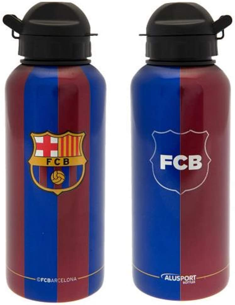 Hombre S Alusport Bottles FCB Jugadores Modelo II Botella Deportiva de Aluminio Azul