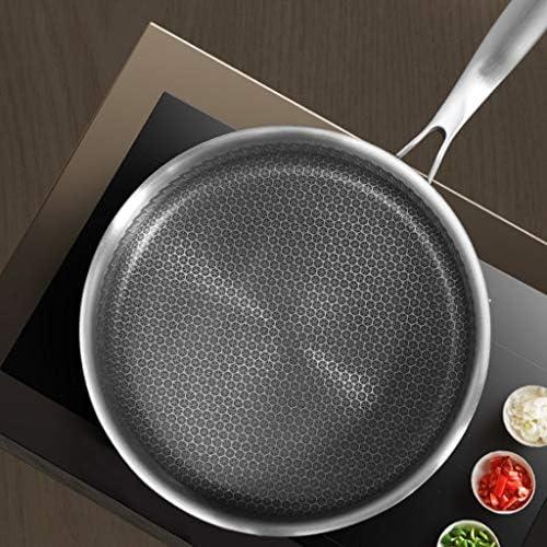 JU FU Pan, Pan Ménage, Poêle, antiadhésive, sans revêtement, moins Fumé Cuisinière à induction, Cuisinière à gaz, Universal Batterie de cuisine @@ (Size : 26x26x6cm)