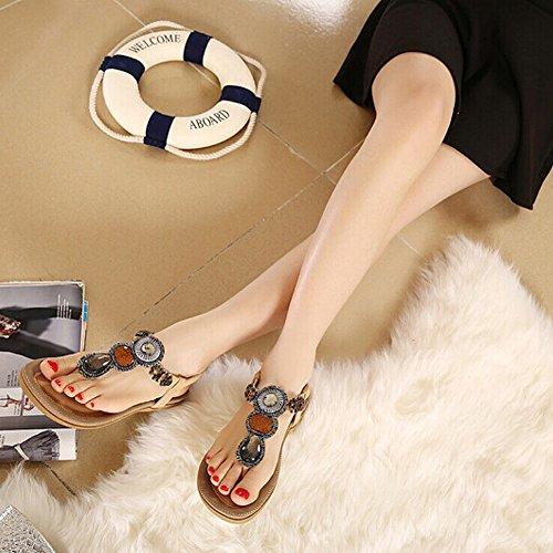 Multicolore abricot argent pour 39 EU femme Tongs Zicac Fq1w0Stt