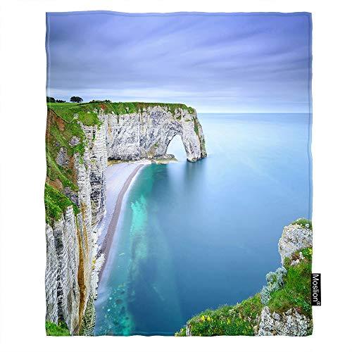 (Moslion Sea Throw Blanket Natural Rock Arch Wonder Cliff Beach Ocean Coastline Seashore Throw Blanket Flannel Home Decorative Soft Cozy Blankets 40x50 Inch for Baby Kids Pet)