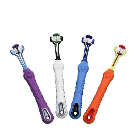 WYXIN Cepillo De Dientes con Triple Cabezal para El Cuidado Dental De Mascotas - Recomendado por